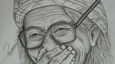 Photo of تعلم رسم امراة عجوز ( امرأة مسنة ) how to draw an old woman